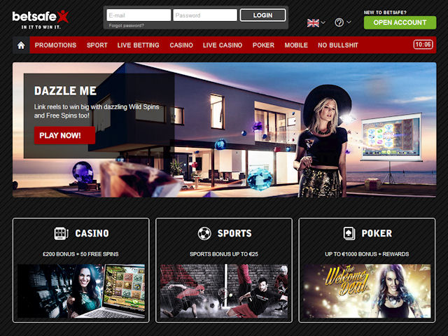 Betsafe screenshot 1
